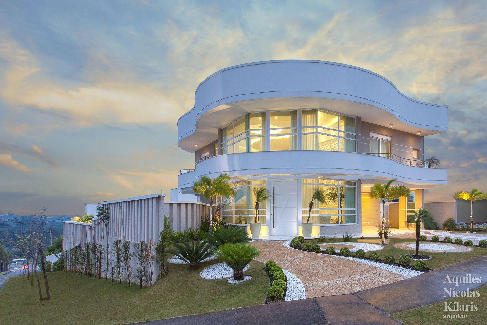 Arquiteto - Aquiles Nícolas Kílaris - Projetos Residenciais - Casa Alphaville Piracicaba