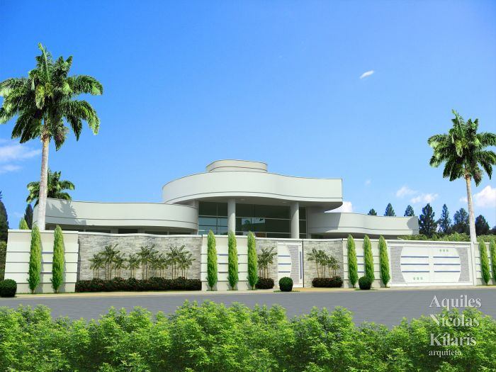 Arquiteto - Aquiles Nícolas Kílaris - Projetos Residenciais - Projeto Brotas - SP