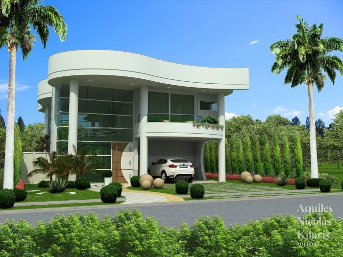 Arquiteto - Aquiles Nícolas Kílaris - Projetos Residenciais - Projeto Maringa - PR